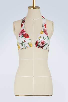Dolce & Gabbana Flowers bikini top