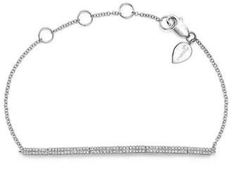 Meira T 14K White Gold Diamond Bars Bracelet