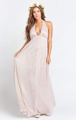 Show Me Your Mumu Luna Halter Dress ~ Magic Mauve Glimmer