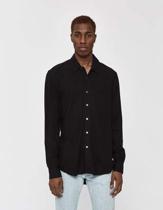 Our Legacy Classic Silk Noil Button-Up Shirt in Black