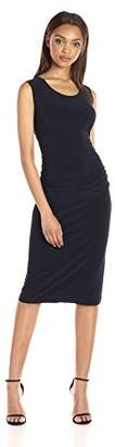 Norma Kamali Women's Sleeveless U Neck Shirred Waist Dress