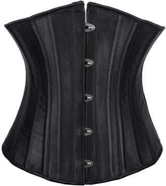 eb2c8dbfe1 Kranchungel Women s Satin Underbust Waist Cincher Steel Boned Corset Top 3X- Large