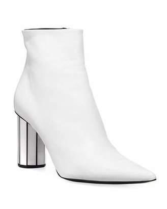 Proenza Schouler Calfskin Booties with Mirror Block Heel