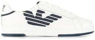 Ea7 contrast logo sneakers