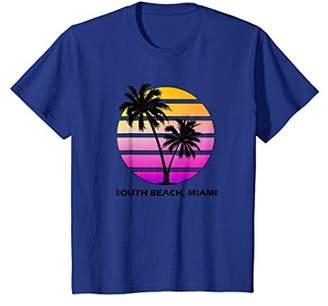 South Beach Vintage Miami Florida Palm Tree Vacation Shirt