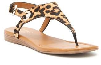 Franco Sarto Goldy Genuine Calf Hair Sandal