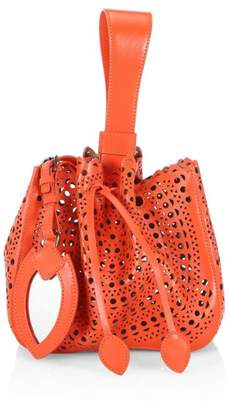 bcff966f0f5 Alaia Small Rose-Marie Eyelet Leather Top Handle Bag
