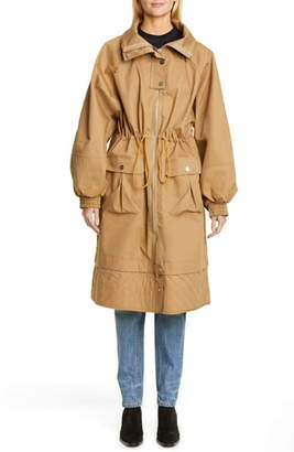 Ganni Double Cotton Parka