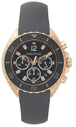 Nautica Men's 'New Port' Quartz Stainless Steel and Silicone Casual Watch
