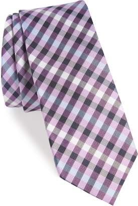 1901 Wynant Check Skinny Silk Tie