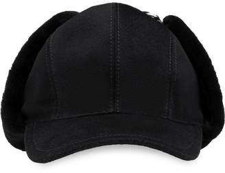 Prada sheepskin side hat