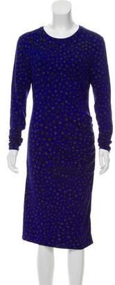 LK Bennett Leopard Print Midi Dress