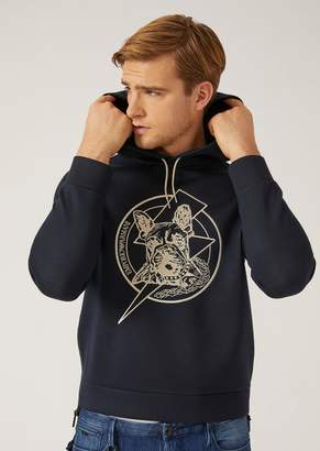Emporio Armani Hooded Sweatshirt With Embroidery