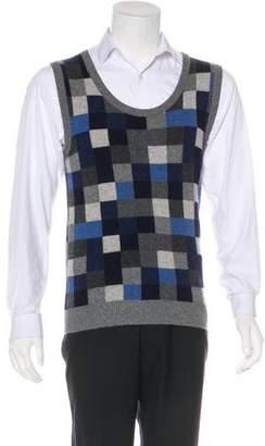 Dolce & Gabbana Check Cashmere Sweater Vest