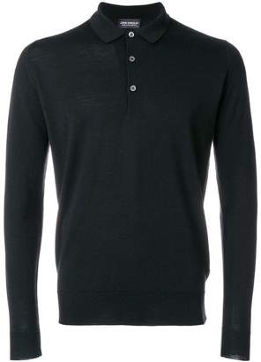 John Smedley classic long-sleeve polo top