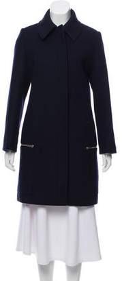 Stella McCartney Wool-Blend Knee-Length Coat