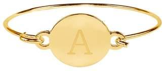 Sterling Forever Initial Bangle Bracelet - Multiple Letters Available