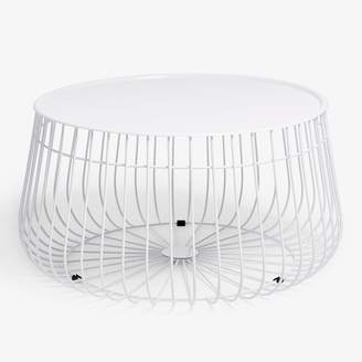 ABC Home Wire Storage Coffee Table White