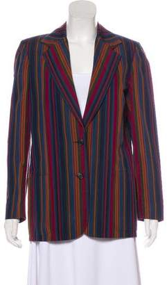 Perry Ellis Striped Structured Blazer