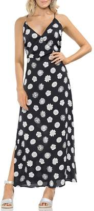Vince Camuto Botanical Tropic A-Line Maxi Dress