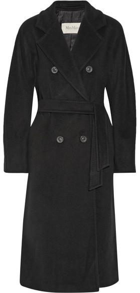 Max MaraMax Mara - Madame 101801 Wool And Cashmere-blend Coat - Black