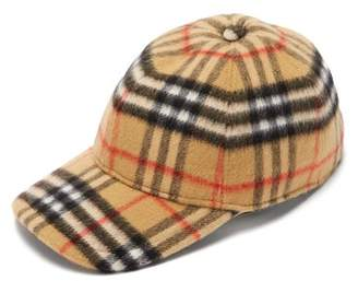 Burberry House Check Wool Baseball Cap - Mens - Tan Multi 030795eb029