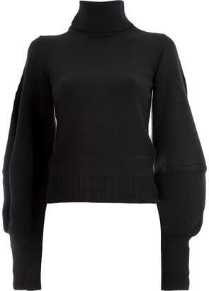 Oscar de la Renta balloon sleeve turtleneck sweater