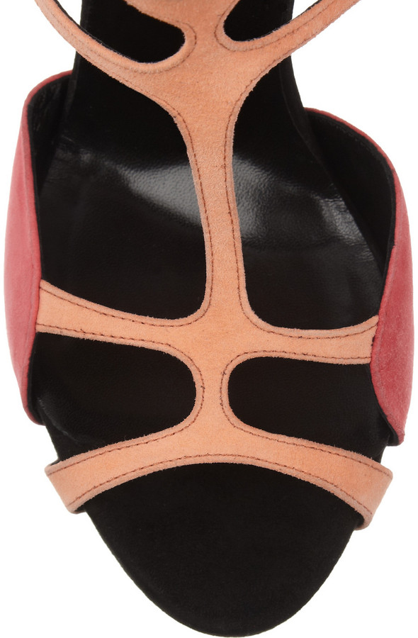 Pierre Hardy Two-tone suede sandals