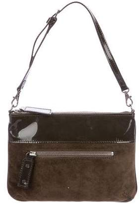 Robert Clergerie Clergerie Paris Patent Leather & Suede Handle Bag