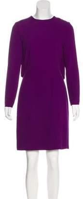 Elie Saab Lace-Trimmed Knee-Length Dress
