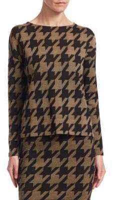Akris Punto Wool Houndstooth Pullover