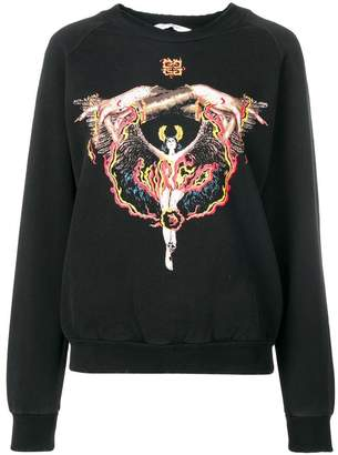 Givenchy fire goddess sweatshirt