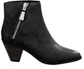 Frye Lila Leather Zip Short Booties
