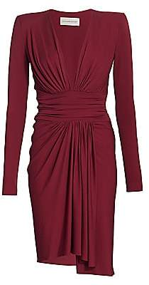 Alexandre Vauthier Women's Ruched Stretch-Jersey Long-Sleeve Dress