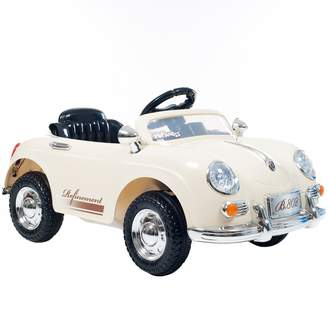 Lil Rider White 58 Speedy Sportster Classic Car Ride-On with Remote