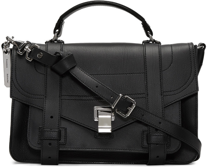 Proenza Schouler Black Medium PS1+ Satchel