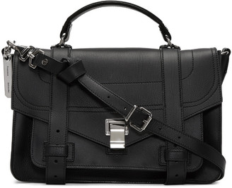 Proenza Schouler Black Medium PS1+ Satchel $1,780 thestylecure.com