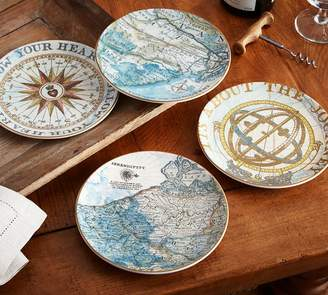 Pottery Barn Journey Salad Plates, Mixed set of 4