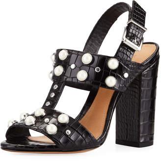 Schutz Zarita Studded Slingback Sandals