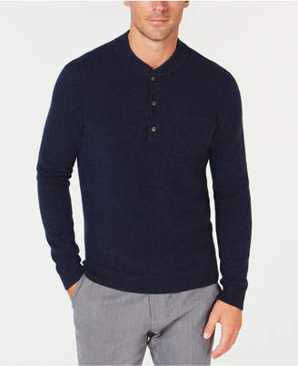 Tasso Elba Men's Cashmere Henley Sweater