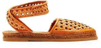 Stella McCartney Woven Wicker Espadrille Sandals - Womens - Tan