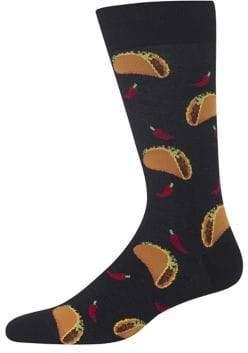 Hot Sox Tacos Crew Socks