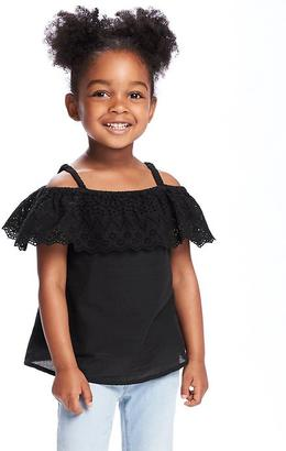 Off-the-Shoulder Ruffle Top for Toddler $16.94 thestylecure.com