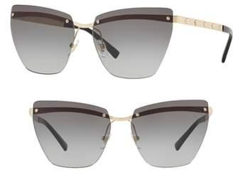 Versace Medusa 58mm Metal Cat Eye Sunglasses