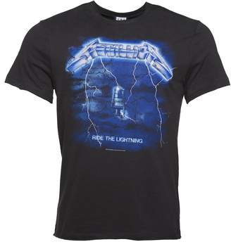 Amplified Mens Charcoal Metallica Ride The Lightning T Shirt from