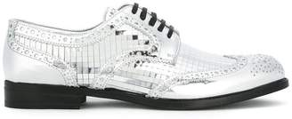 Dolce & Gabbana mirrored brogues