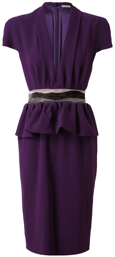Bottega Veneta Crepe dress with peplum waist