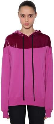 Unravel Jersey & Velvet Sweatshirt Hoodie