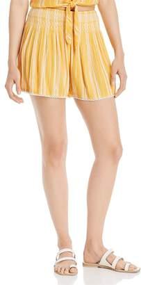 Aqua Striped Smocked-Waist Shorts - 100% Exclusive