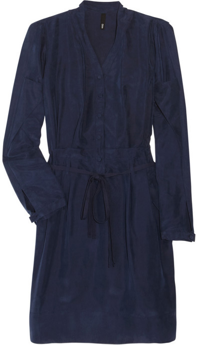 Edun Brushed-silk shirt dress